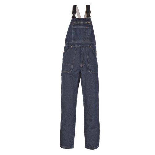 Jeans-Latzhose Eger, blue stonewashed, Denim